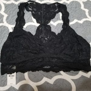 Express Black Lace Bralette
